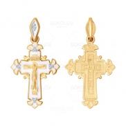 Крест из золота с эмалью с бриллиантами