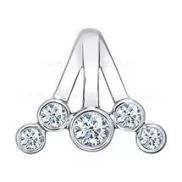 Подвеска «Зимняя Вишня» серебряная