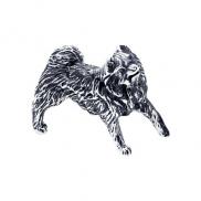 Собака черненое серебро