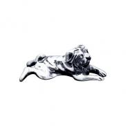Сувенир из чернёного серебра «Мопс»