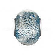 Подвеска-шарм из серебра с муранским стеклом