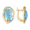Золотые серьги с природными камнями