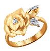 Золотые кольца с драгоценными камнями